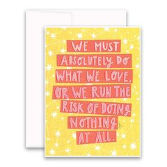 """Risk of Doing Nothing"" Greeting Card"
