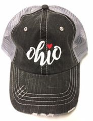 Ohio Heart Trucker Hat