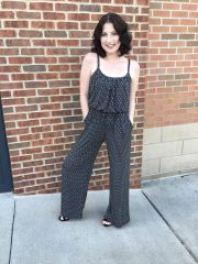 Black and Ivory Jumpsuit
