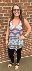 Soft Pastel Aztec Tank Top