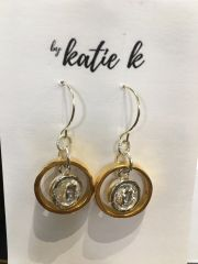 By Katie K Ring and Bezel Earring