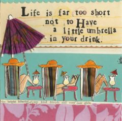 Curly Girl Greeting Card- Life is short