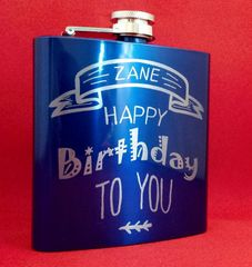 6 oz. Personalized Flask