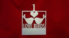 Love Birds Table Numbers - Set of Six (minimum)