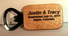 Personalized Wooden Key Chain Bottle Opener