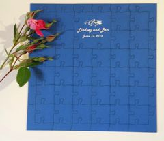 Personalized Custom Laser Cut Jigsaw Puzzle Guest Book from Mat Board