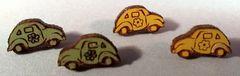 Volkswagen Post Earrings from Maple Wood