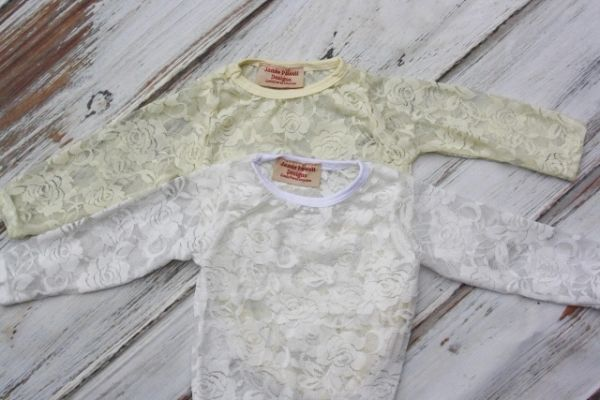 82746f93f5a6 White long sleeve Lace Shirt- Lace baby bodysuit- Lace tshirt lace ...