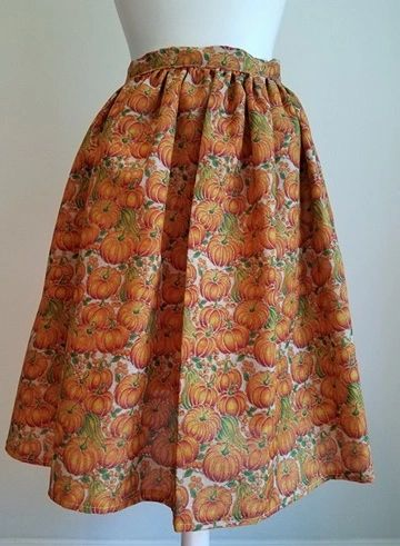d5e0cb4036 Fall Pumpkins - Vintage Inspired Pleated Skirt with Pockets | Sparrow To  Dragonfly...Vintage & Retro Resale