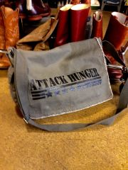 Attack Hunger Canvas Messenger Bag