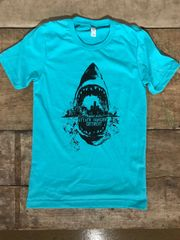 Attack Hunger Sharkstyle Seafoam Tee
