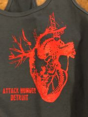 Women's Attack Hunger Heart of Detroit Tank