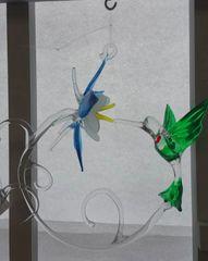 Columbine with Hummingbird