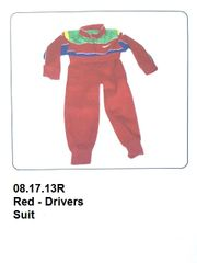Drivers Suit Red with Blue & Green