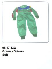 Drivers Suit Green W/Blue & Red
