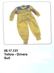 Drivers Suit Yellow with Blue & Red