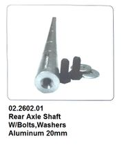 Aluminum Axle Shaft w/End Bolts-Washers