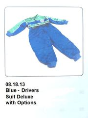 Drivers Suit Blue DELUXE with Options