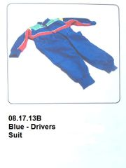 Drivers Suit Blue with Red & Green