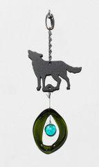 0869 Wolf Mini Metal Chime