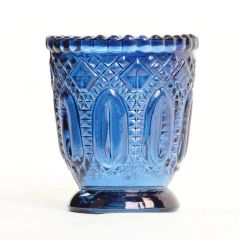 Spell Cast Votive Candle Holder - Turn Any Votive Tealight Candle Into Power packed Offering, Spell & Even Bonding Tool! Stunning Blue
