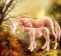Rare Offering Magickal Baby Gold Unicorns of Wealth and Happiness!