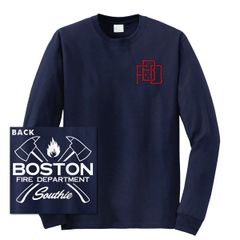 Boston Fire Dept. Interlock Long Sleeve T-shirt