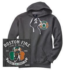 Boston Fire Lucky Leprechaun Hockey Hoodie