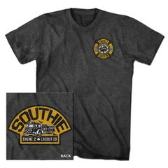 Black & Gold Southie Fire Truck Tee