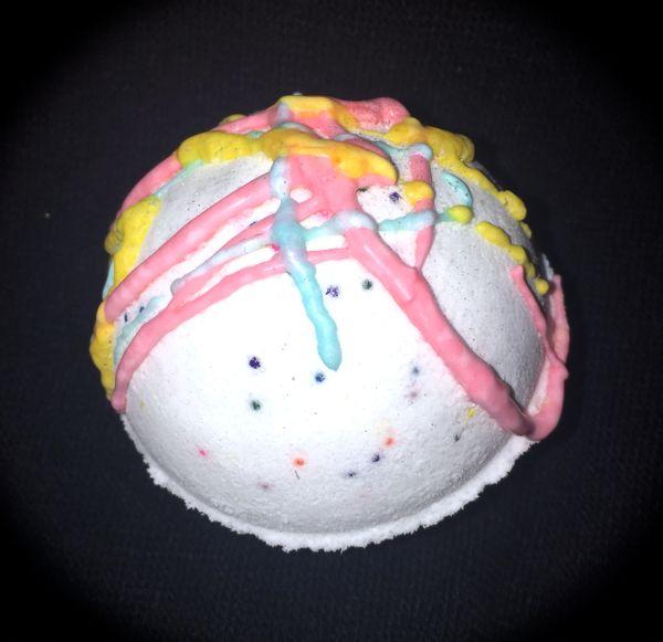 Birthday Cake Dead Sea Salt Bubble Bath Bomb