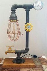 Industrial Edison with tempurature gauge, on/off valve and spigot