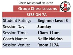 Sunday level 3 lessons Session 7A 10:00am-11:00am