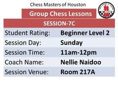 Chess lessons for beginners, 11am-12pm
