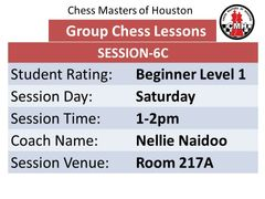 Saturday-Session 6C Level 1 beginner 1-2pm