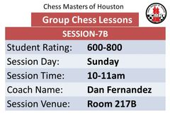 Sunday-Session 7B 10:00-11:00am. 600-800 rated players