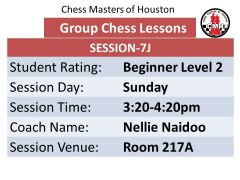 Sunday Session 7J Level 2 beginner 3:20pm-4:20pm