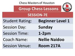 Sunday Session 7E Level 1 beginner, 1-2pm