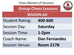 Chess lessons for 400-600 rated players
