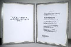 Double Frame Marriage Poem with Photo