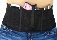 Hidden Heat Lace - Women's Concealed Carry Gun Holster - Black