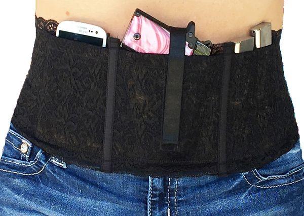 Hidden Heat Lace - Women's Concealed Carry Gun Holster - Black