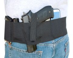 Hidden Heat 4 - Elastic Belly Band Concealed Carry Gun Holster - BlackG