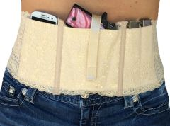 Hidden Heat Lace - Women's Concealed Carry Gun Holster - Natural