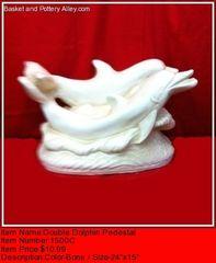 Double Dolphin Pedestal - #1500C