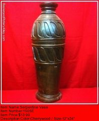 Serpentine Vase - #1505E