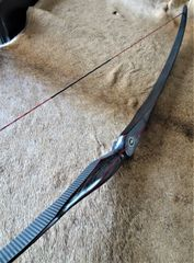 "60"" 49#@28"" Black and Red Double Carbon Torrent Longbow"