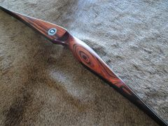 """60"""" 42#@28"""" """"Cocobolo"""" and Carbon Classic Longbow"""