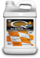 Q4 Plus Turf Herbicide for Grassy and Broadleaf Weeds, Quart, Gallon, 2.5 Gallons