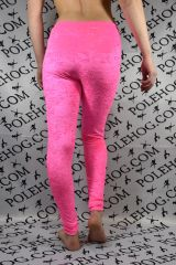 Flo pink crushed leggings