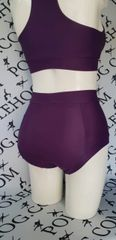 Aubergine (full) high waisted panel panel